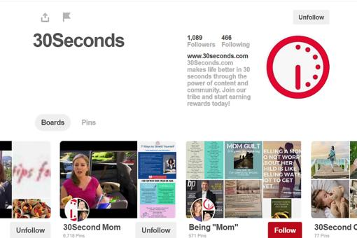 Pin With Us! How to Connect With #30Seconds Through Pinterest!