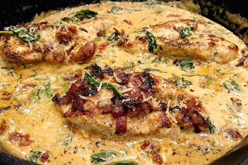 Creamy Tuscan Chicken With Spinach & Sun-dried Tomatoes Will Take You to Your Happy Place