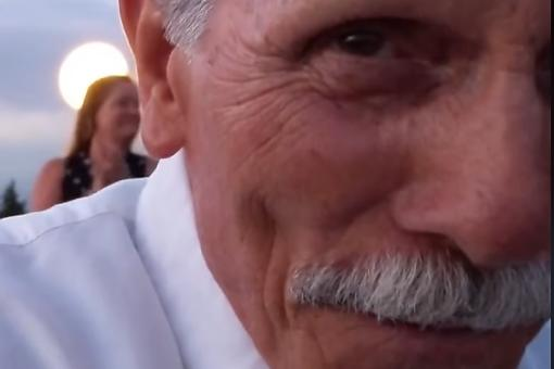 Viral Video: Grandpa Accidentally Records His Own Reaction During Grandson's Proposal