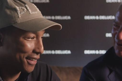 ​What Are Pharrell Williams & DEAN & DELUCA So Happy About? Find Out!