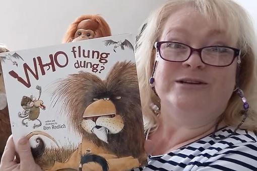 "Virtual Story Time for Kids: Watch The Story Lady Read ""Who Flung Dung?"" By Ben Redlich"