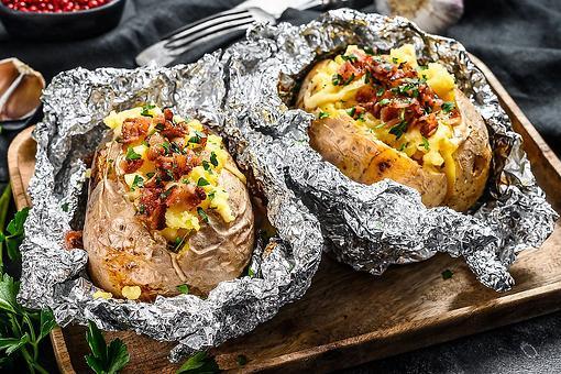 Whole Oven-Baked Potatoes Recipe: The Best Loaded Baked Potato Recipe (So Creamy!)