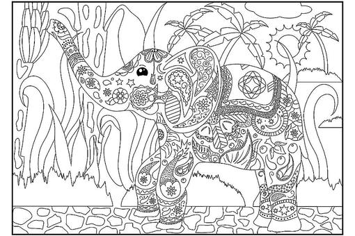 Elephant Coloring Pages: 12 Free & Fun Printable Elephant Coloring Pages for Kids & Adults