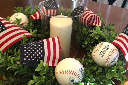 Baseball Décor: This Easy DIY Centerpiece Will Be a Hit on July 4th