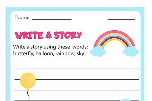 Writing Prompts for Kids: 12 Fun Blank Printable Writing Prompts to Encourage Kids to Write a Story