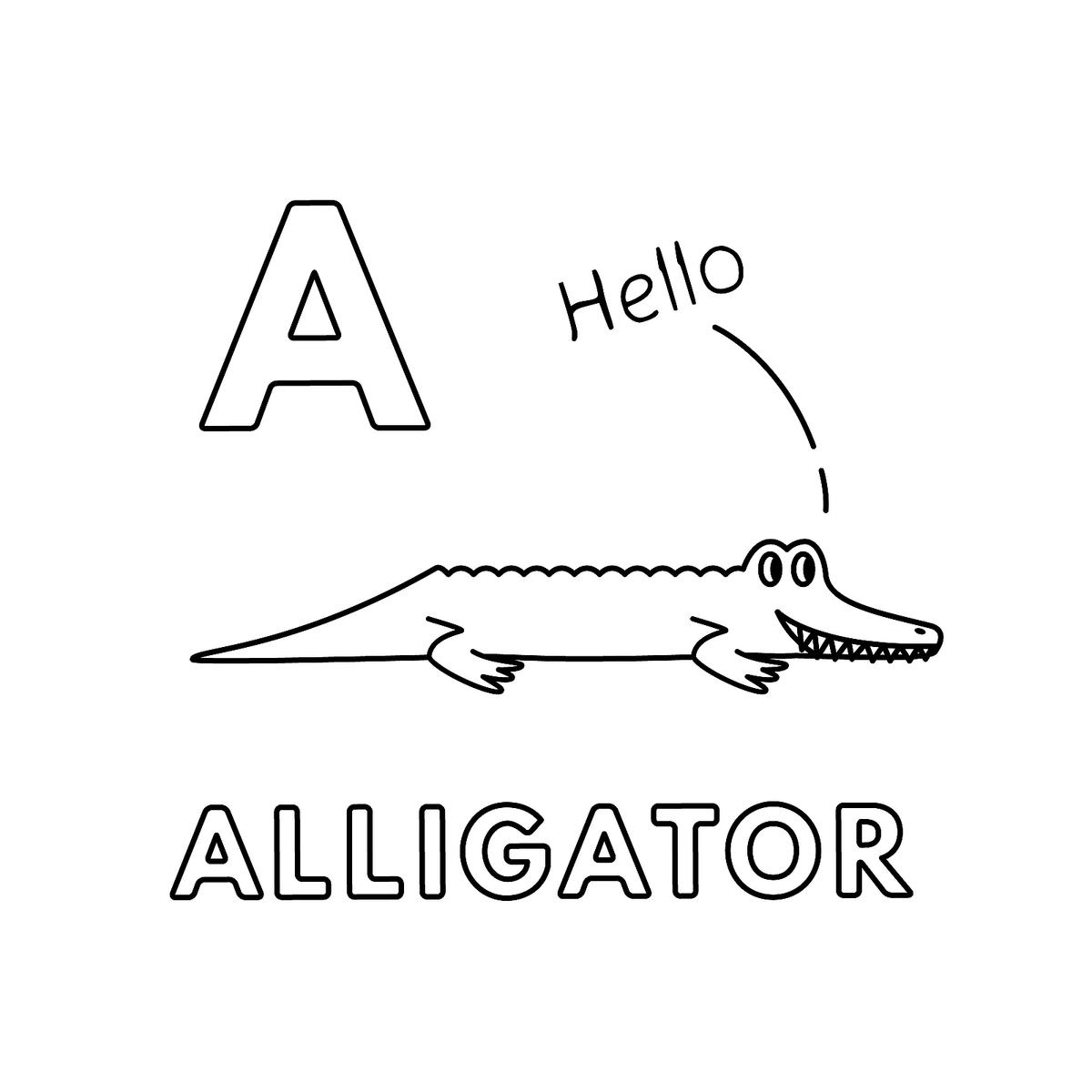 Alphabet Coloring Pages: Fun Printable Animal-Themed ...