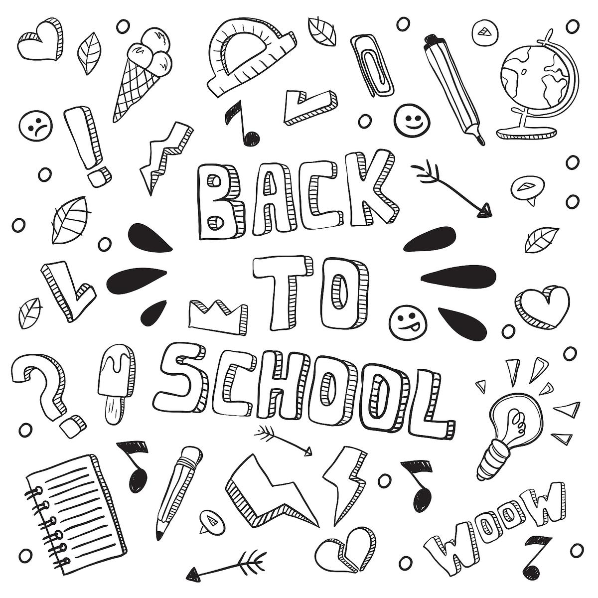 Back-to-School Coloring Pages: Fun School-Themed Printables for Kids ...