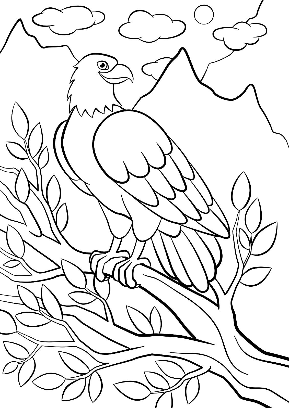 Birds Coloring Pages for Kids - Itsy Bitsy Fun | 1600x1131