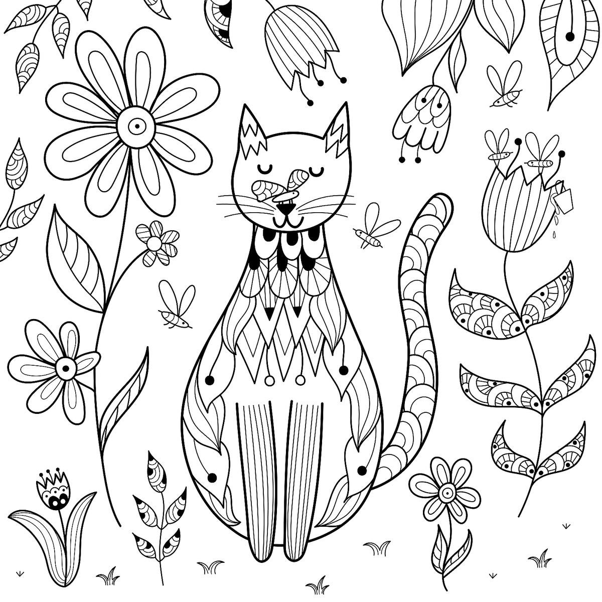 - Free Cat Coloring Pages: Purr-fect Printable Coloring Pages Of