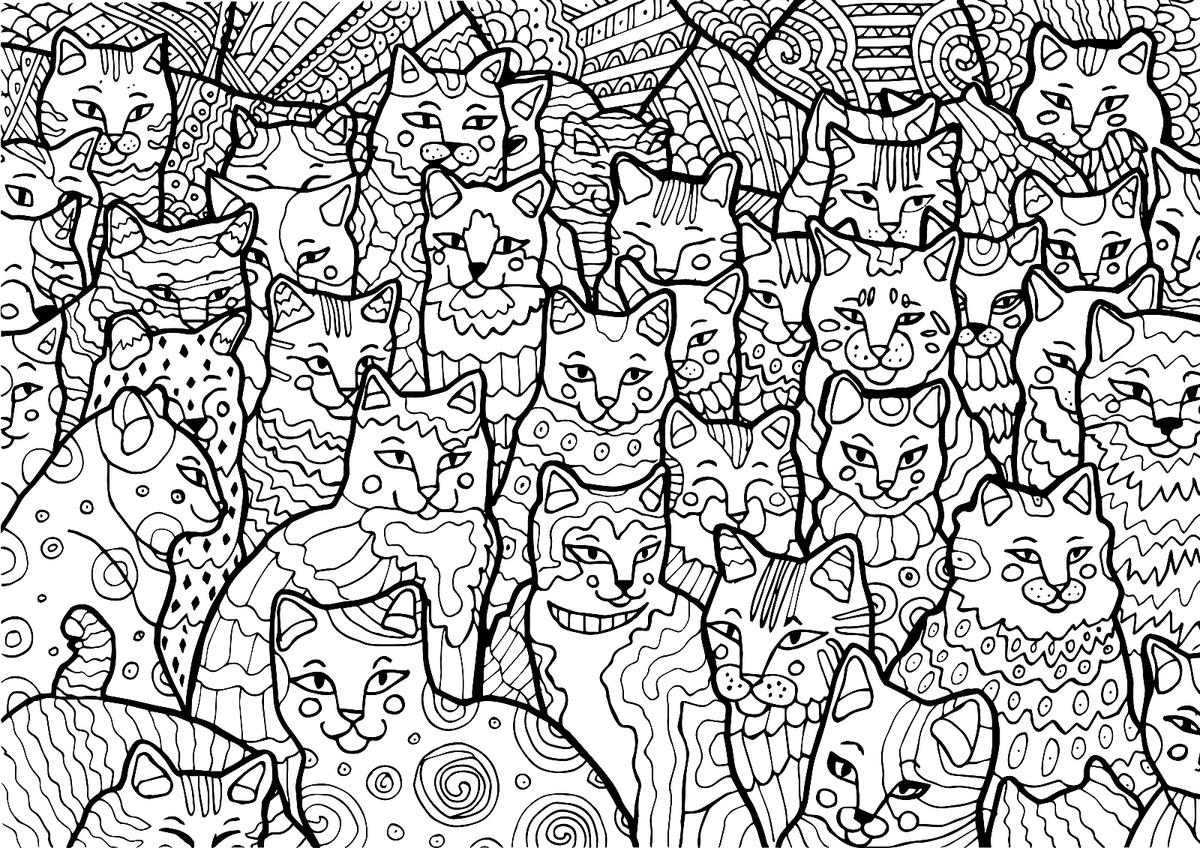 Free Cat Coloring Pages Purr fect Printable Coloring Pages of ...