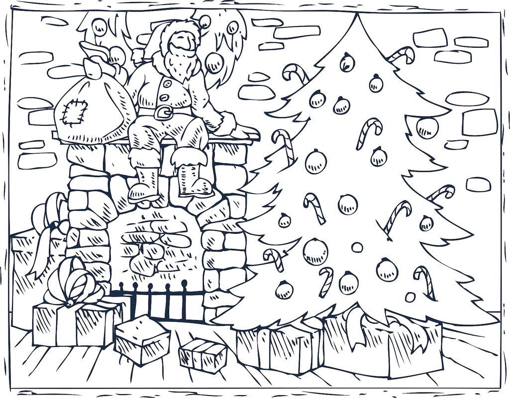 This is a photo of Free Printable Christmas Coloring Pages for Adults with regard to print