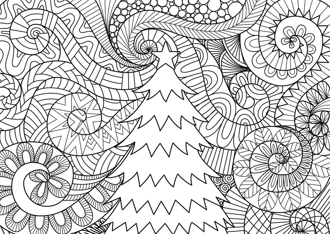 christmas art coloring pages - photo#49