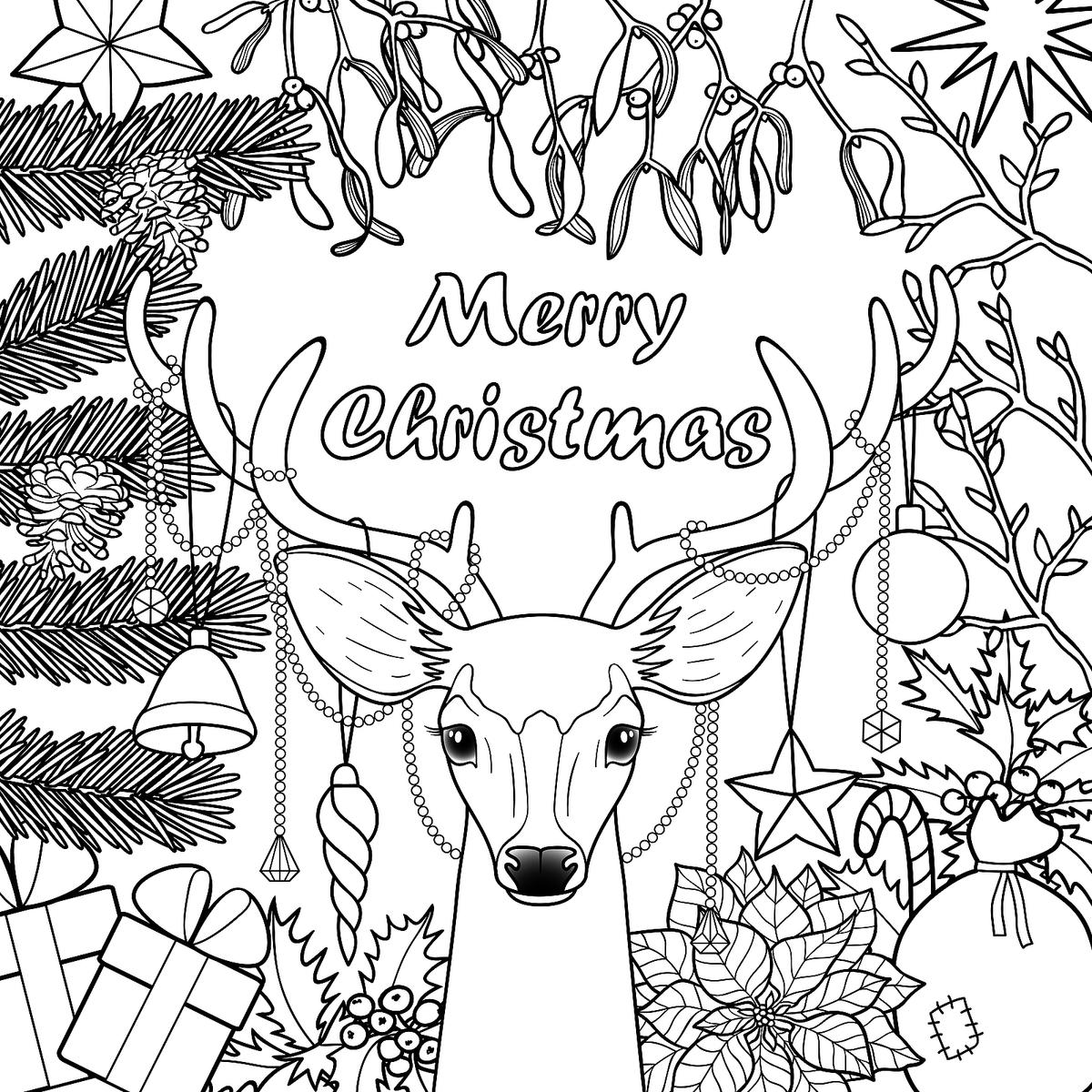 Printable Coloring Pages Of Christmas