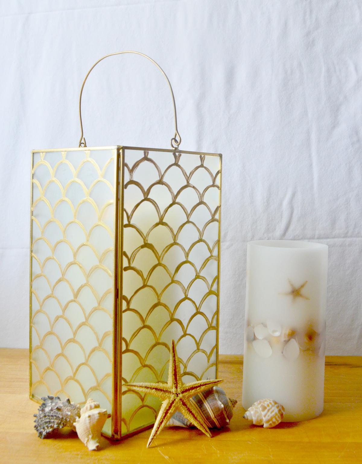 DIY Home Decor How To Make A Pottery Barn Inspired Capiz Lantern By Samantha Aleman