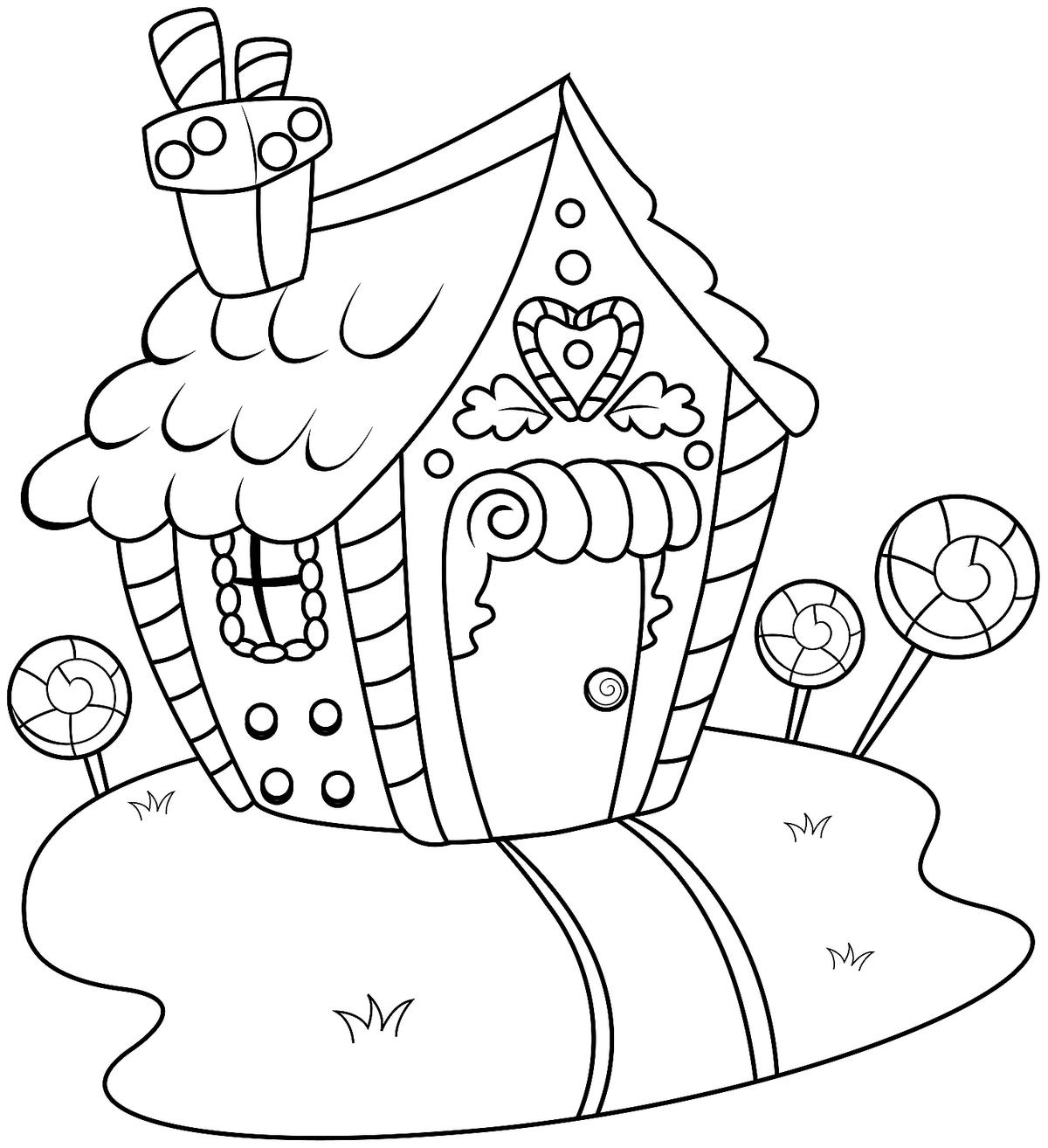 graphic relating to Printable Gingerbread House Coloring Pages known as Gingerbread Household Coloring Web pages: Printable Coloring