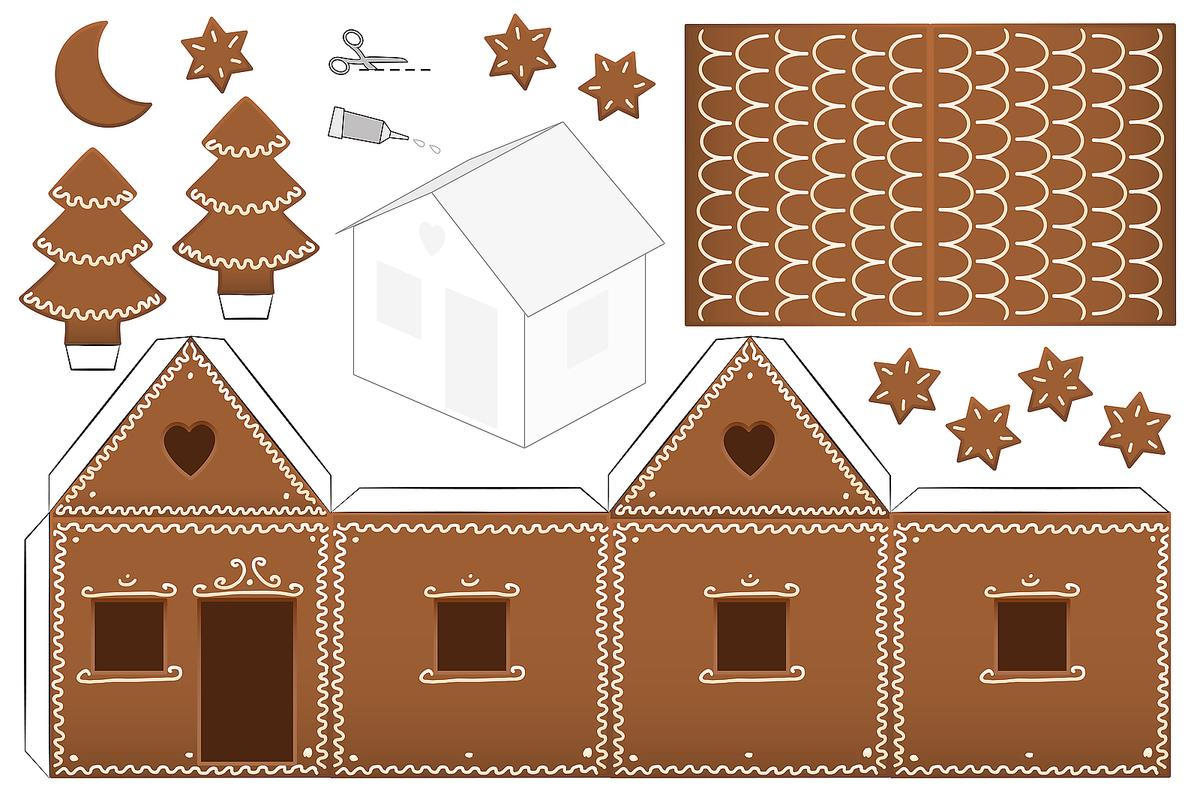 Gingerbread House Coloring Pages: Printable Coloring ...