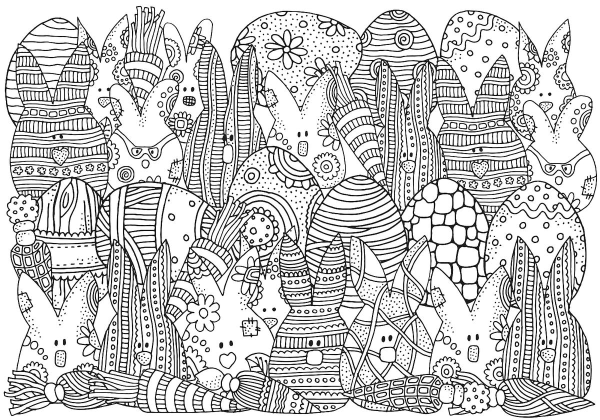 Easter Coloring Pages Fun SpringThemed