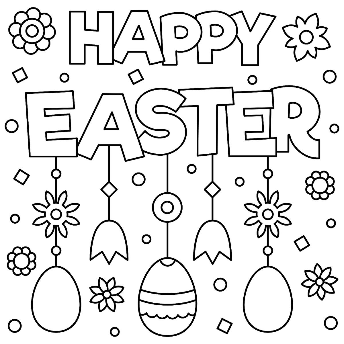 coloring book pages for easter - photo#32