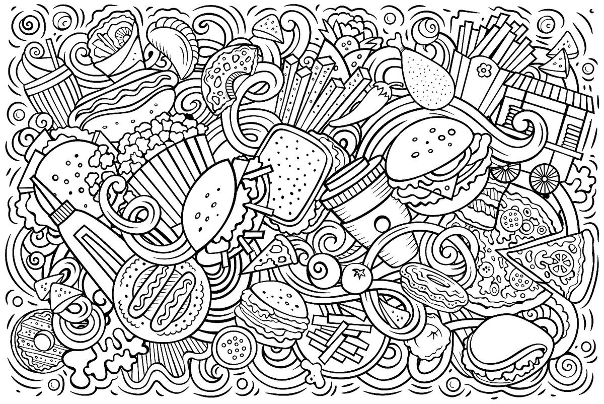 Free Food Coloring Pages For Children Printable Com Healthy ... | 802x1200