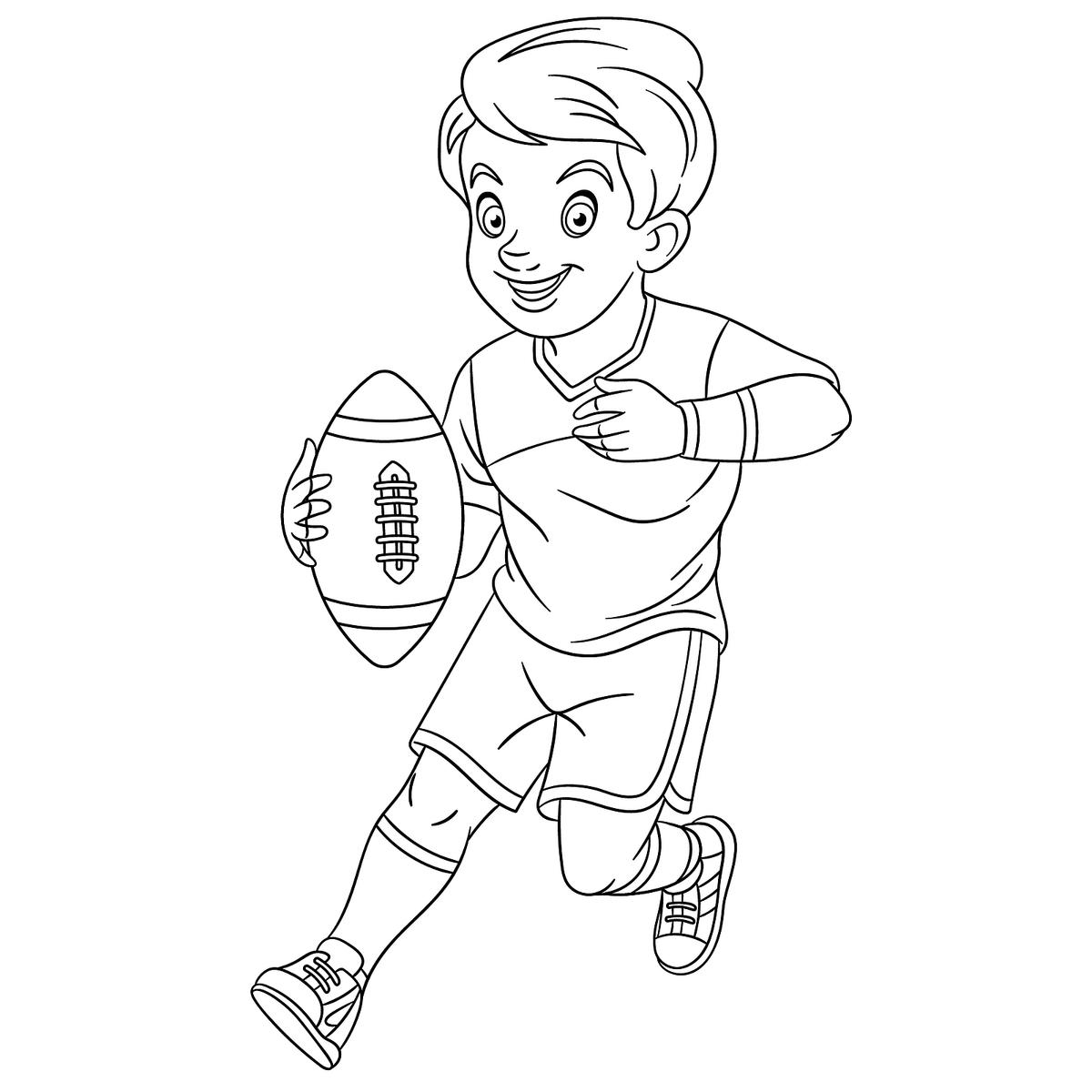 Football Coloring Pages Printable Sports Coloring Activity Pages To Entertain Kids During The Game Printables 30seconds Mom