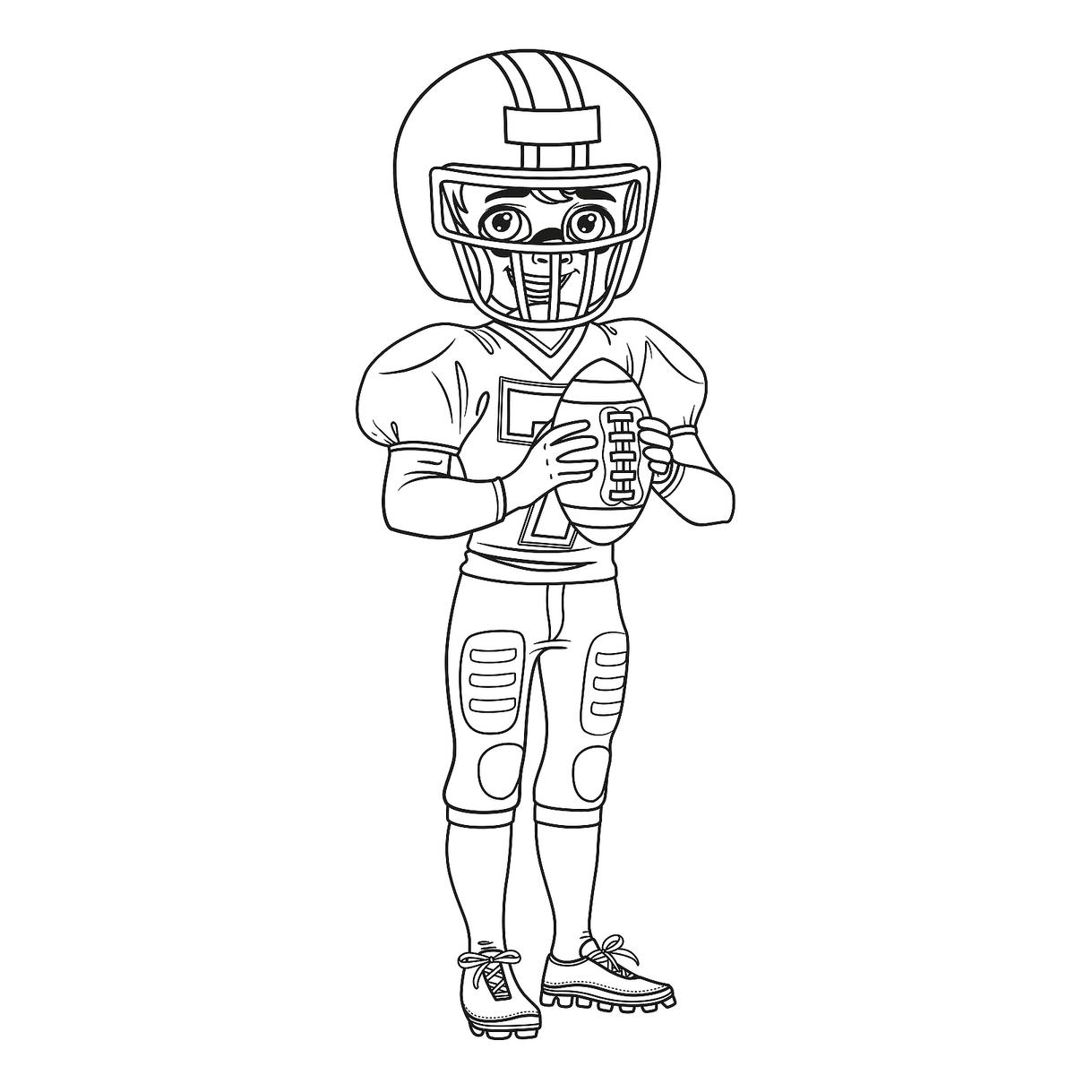 Football Coloring Pages: Football Coloring Pages: Printable Sports Coloring