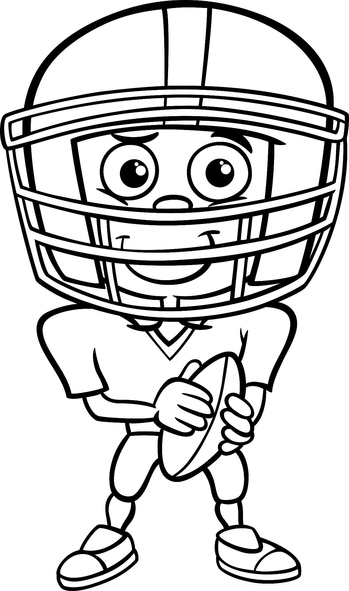 Football Coloring Pages Printable Sports Coloring Activity