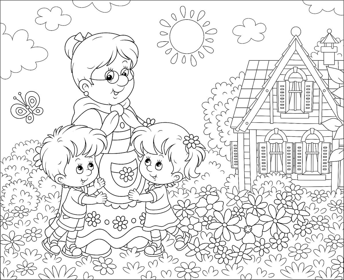 Grandparents Coloring Pages Free & Fun Printable Coloring Pages ...