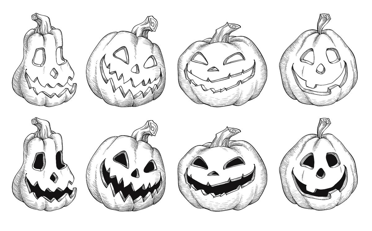 🎨 Blank Halloween Coloring Pages 11 Halloween Kids Coloring Pages ... | 748x1200