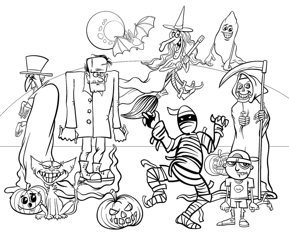 Halloween Coloring Pages: 10 Free Spooky Printable ...