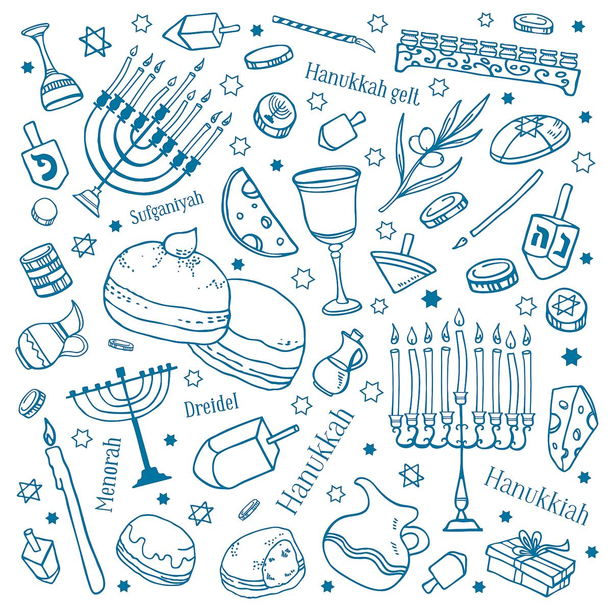 Free Printable Hanukkah Coloring Pages for Kids - Best Coloring ... | 1200x1200