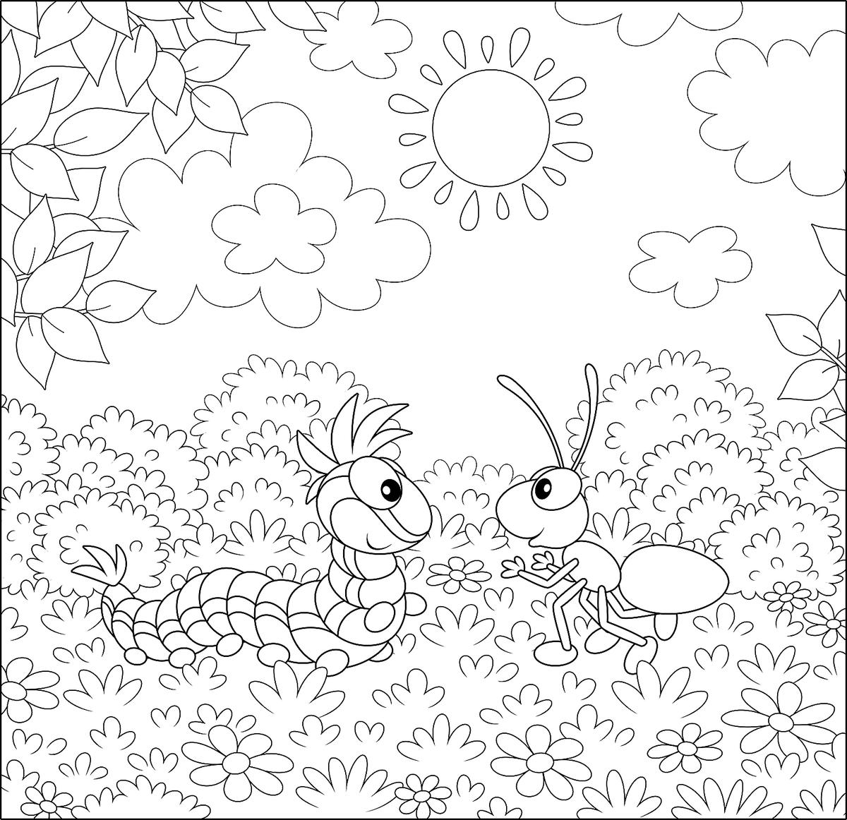 Insect Coloring Pages: Free & Fun Printable Coloring Pages ...