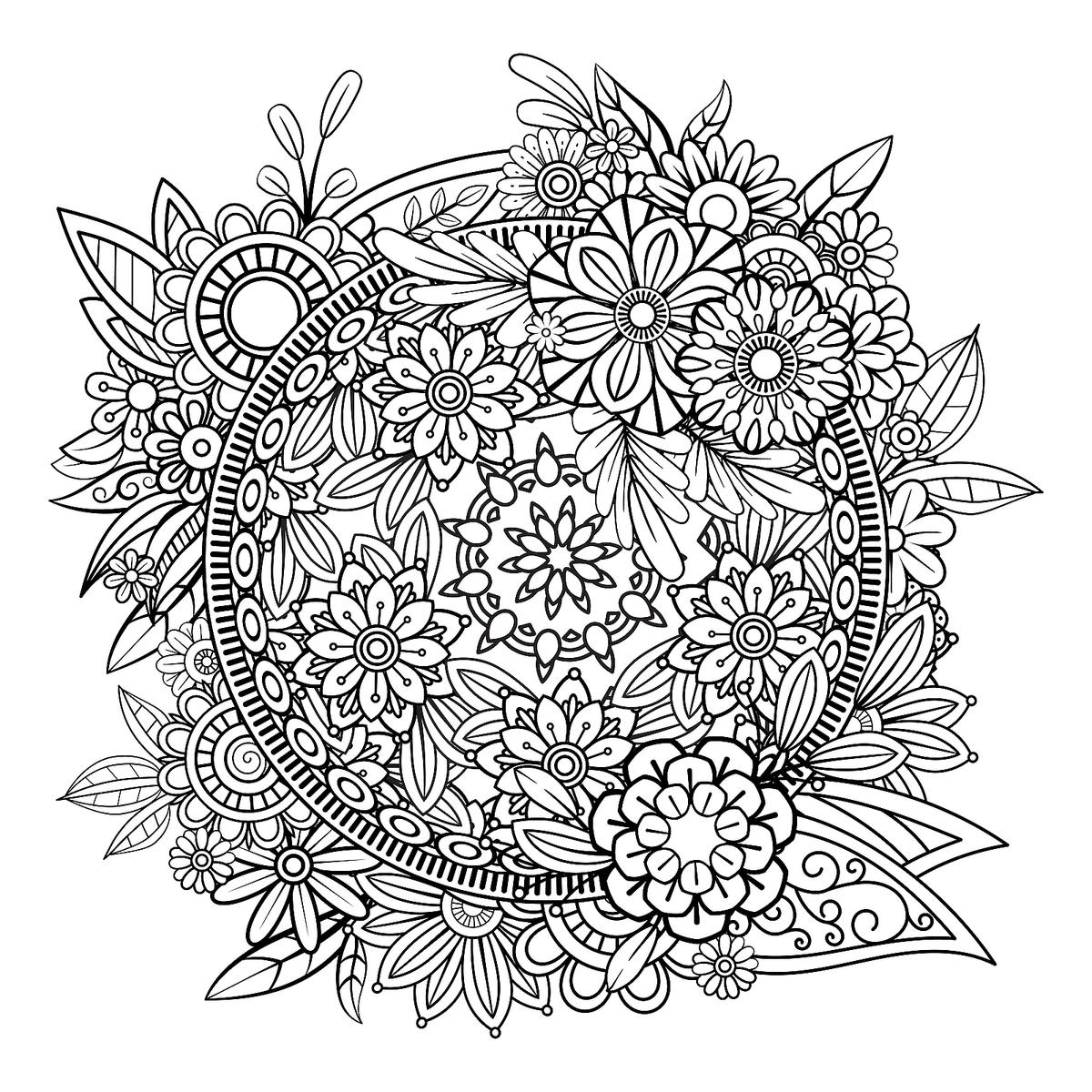 Mandala Coloring Pages: Printable Coloring Pages of ...