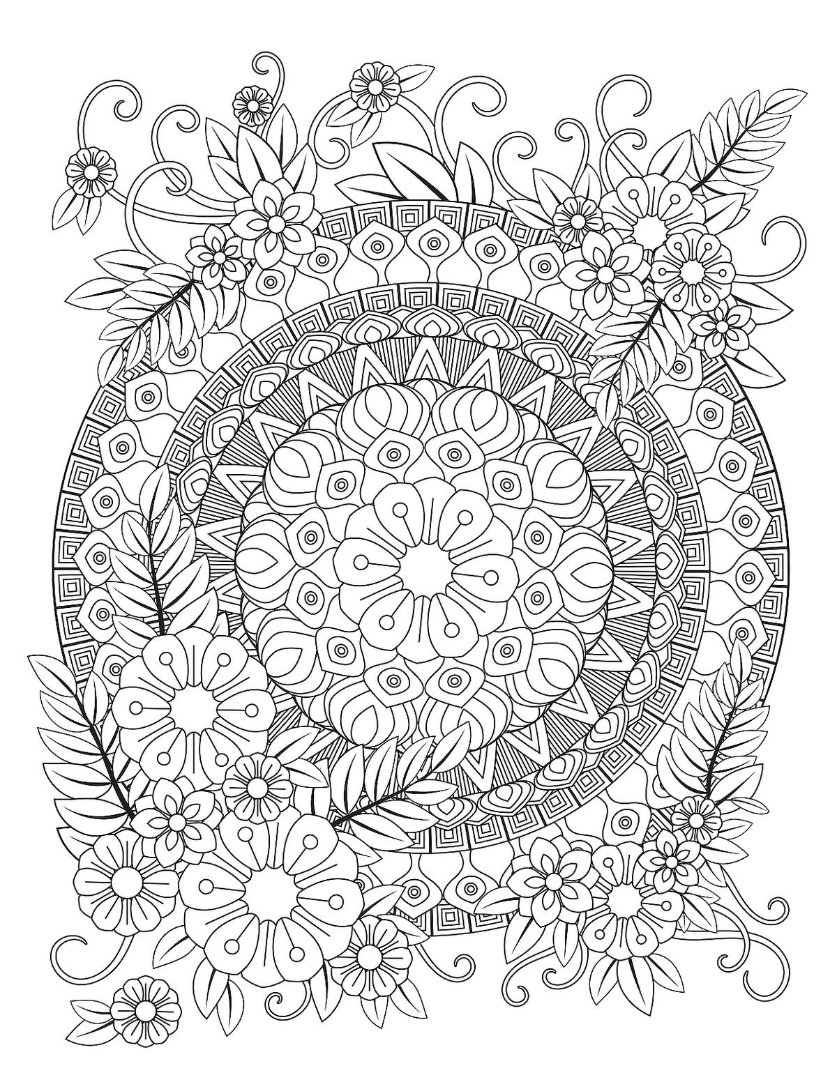 coloring books : Free Printable Mandala Coloring Pages For Adults ... | 1552x1200