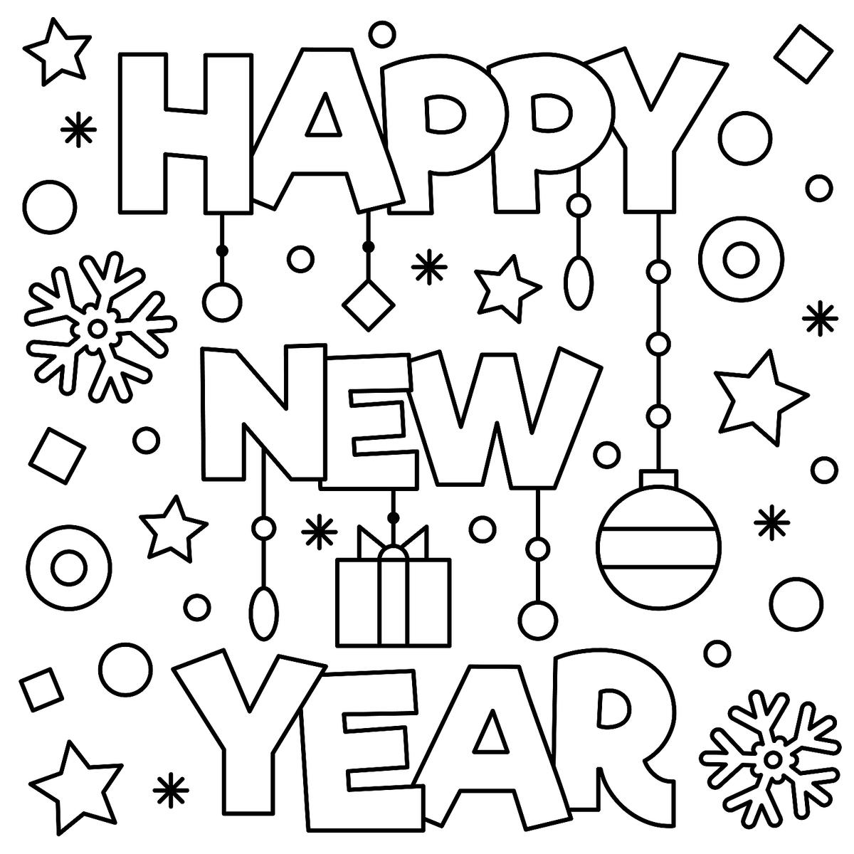 New Year January Coloring Pages Printable Fun to Help Kids