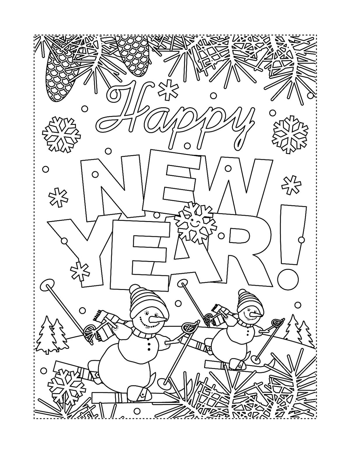 New Year & January Coloring Pages: Printable Fun to Help Kids ...