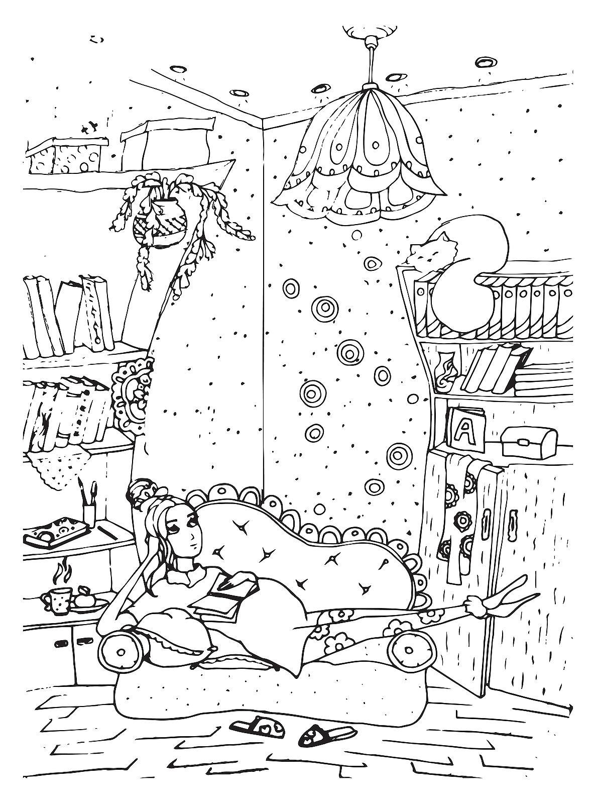 Happy pregnant woman coloring page - Coloringcrew.com | 1600x1187