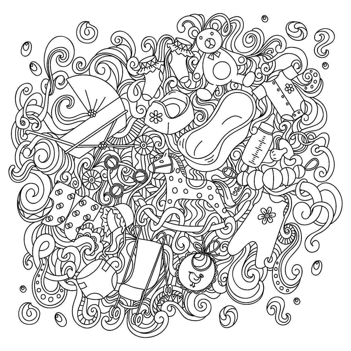 Pregnancy Coloring Pages: Free Pregnancy Printables for Mom-to-Be ...