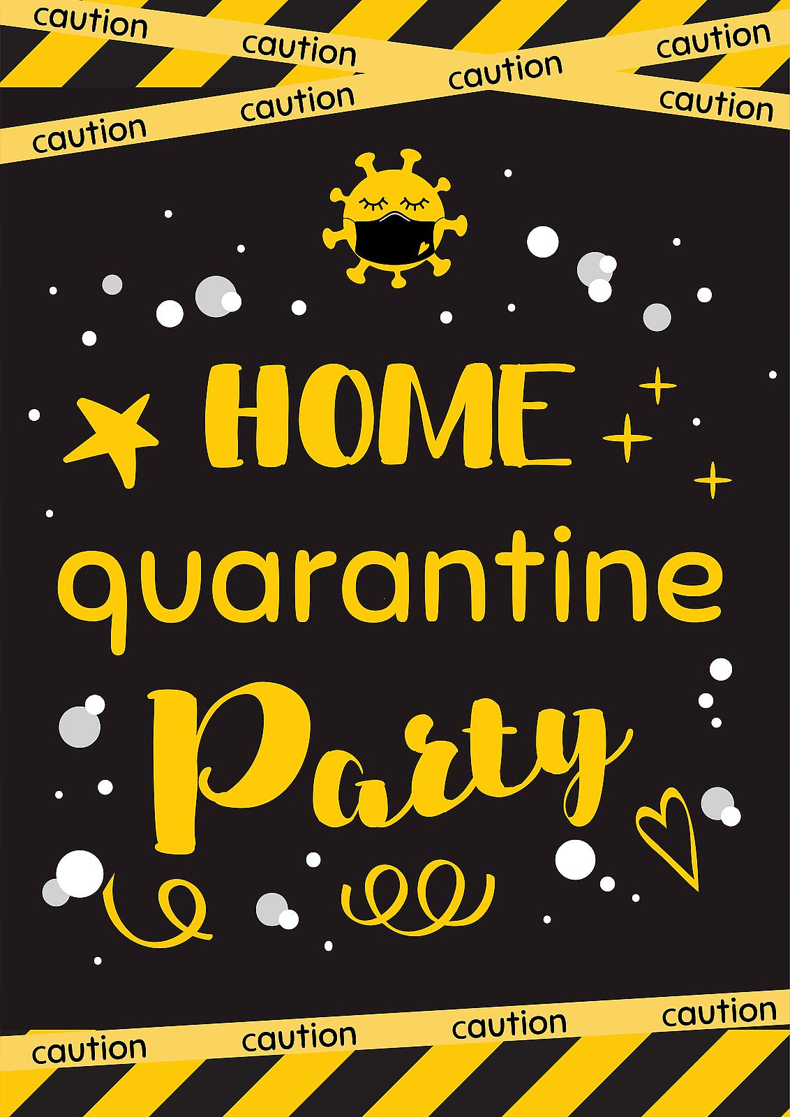 Quarantine Birthday Party Free Printable Home Quarantine Party Supplies To Help You And Only You Celebrate Printables 30seconds Mom