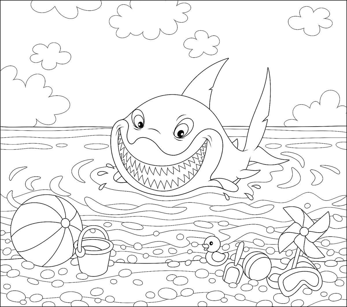 Sea Creatures Coloring Pages: Fish, Dolphins, Sharks ...