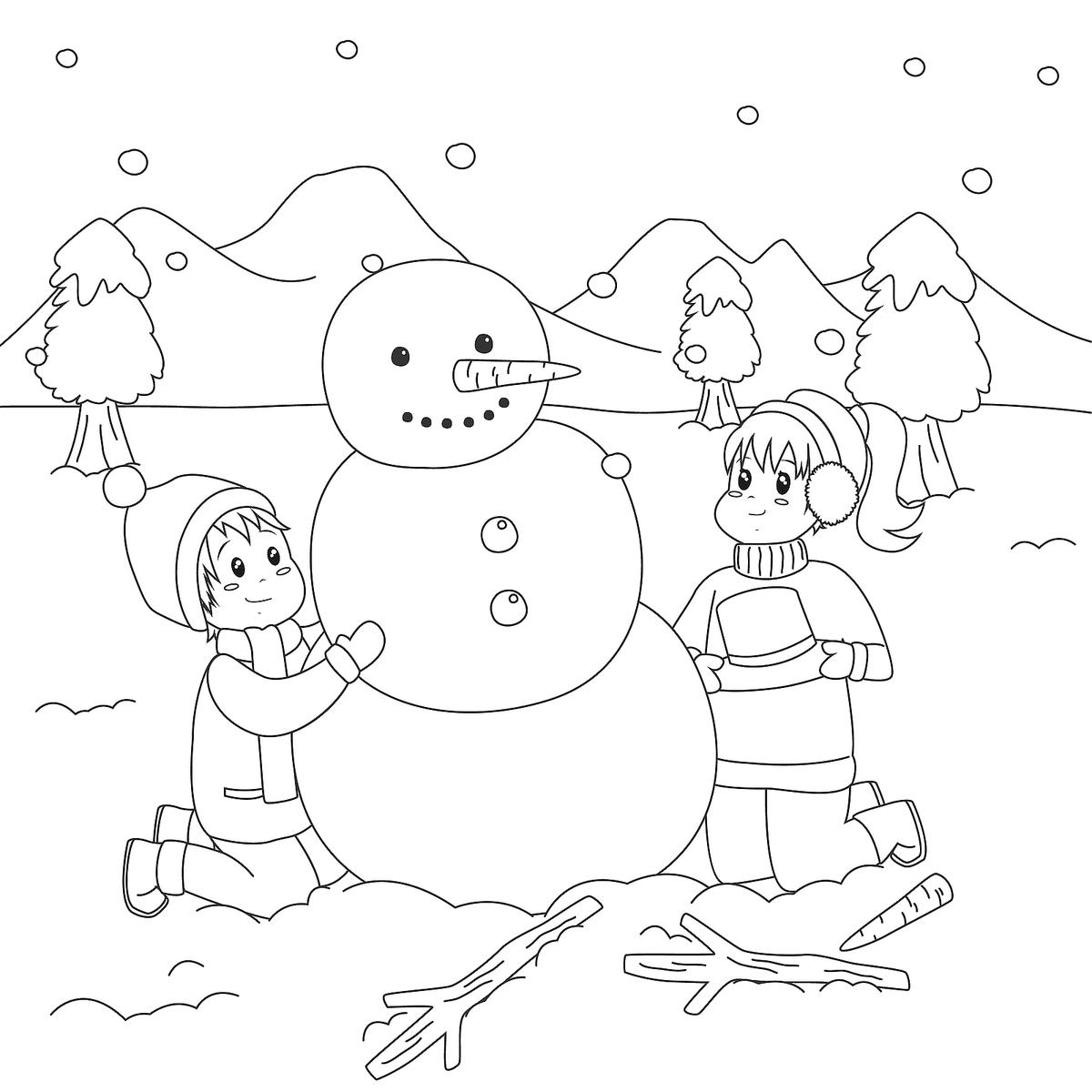 Snowman Coloring Pages For Kids Adults 10 Printable Coloring Pages Of Snowmen For Winter Fun Printables 30seconds Mom