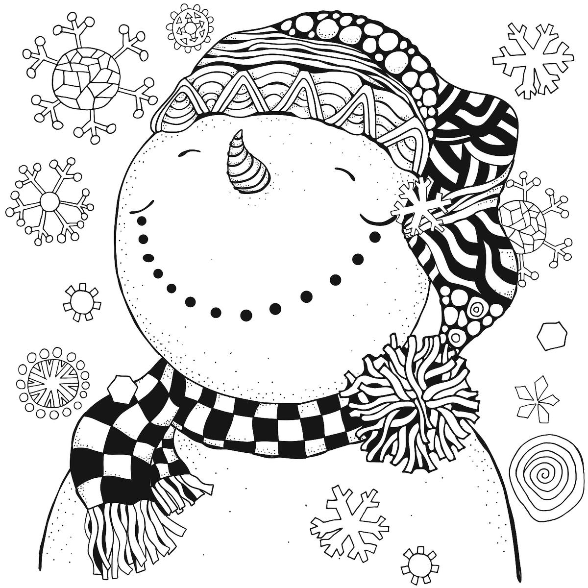 Snowman Coloring Pages for Kids & Adults: 10 Printable ...