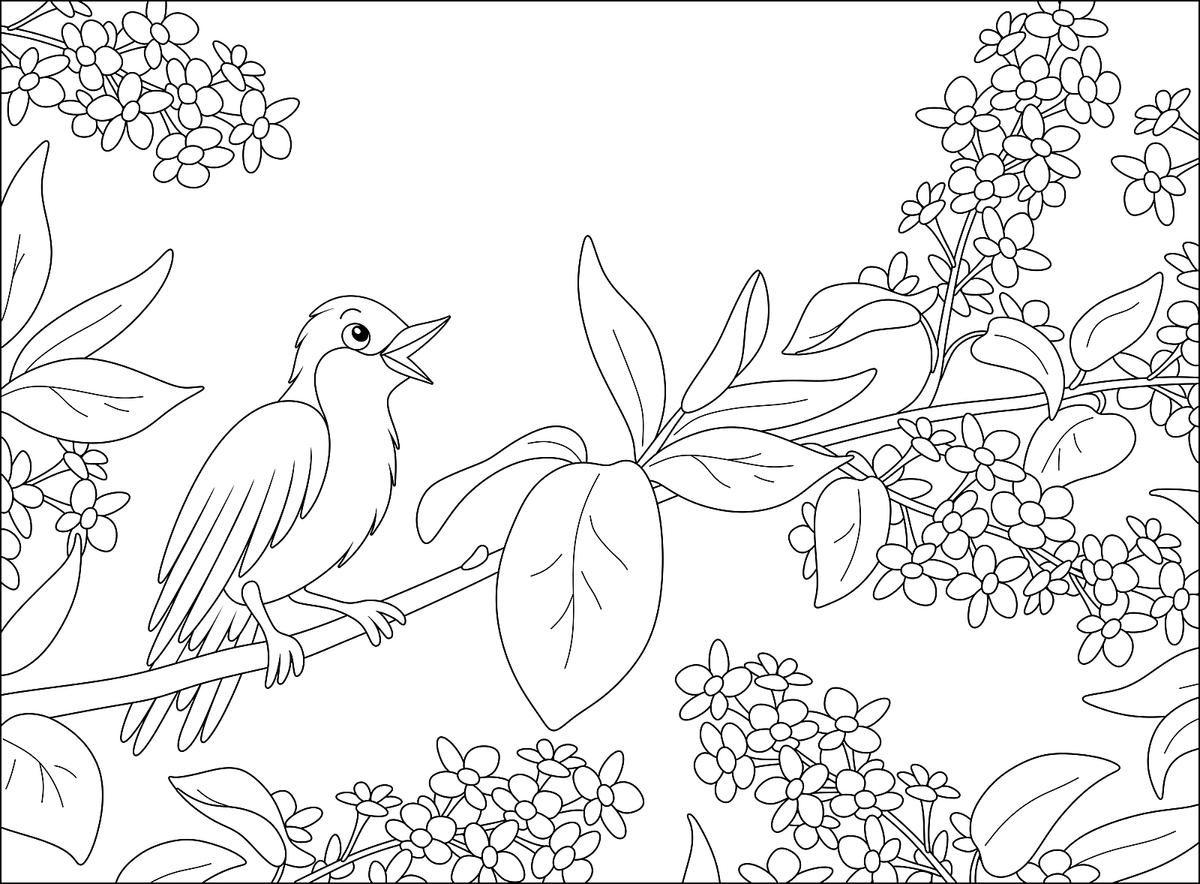 Flowers Coloring Pages 18 Free & Fun Printable Coloring Pages of ...