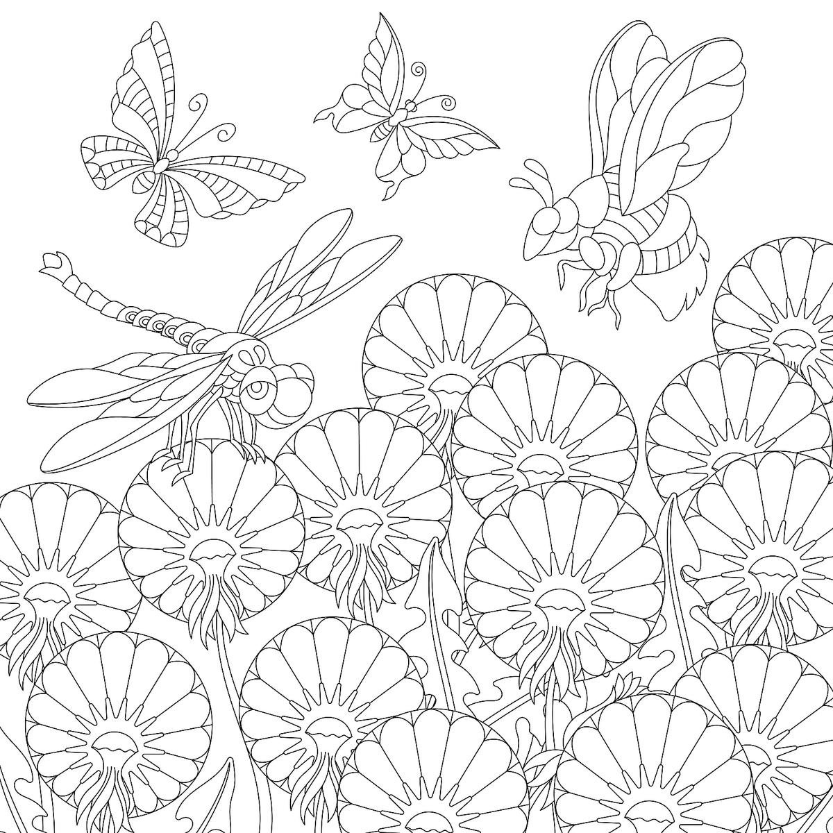 Summer Flowers Coloring Pages: 10 Free & Fun Printable ...