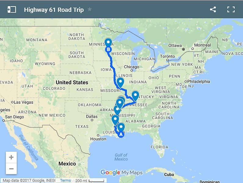 Awesome US Road Trips To Beat All Road Trips US Travel - Us highway 61 map