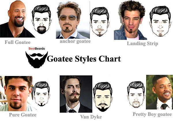 goatees 6 types of goatee beard styles the celebs who sport em