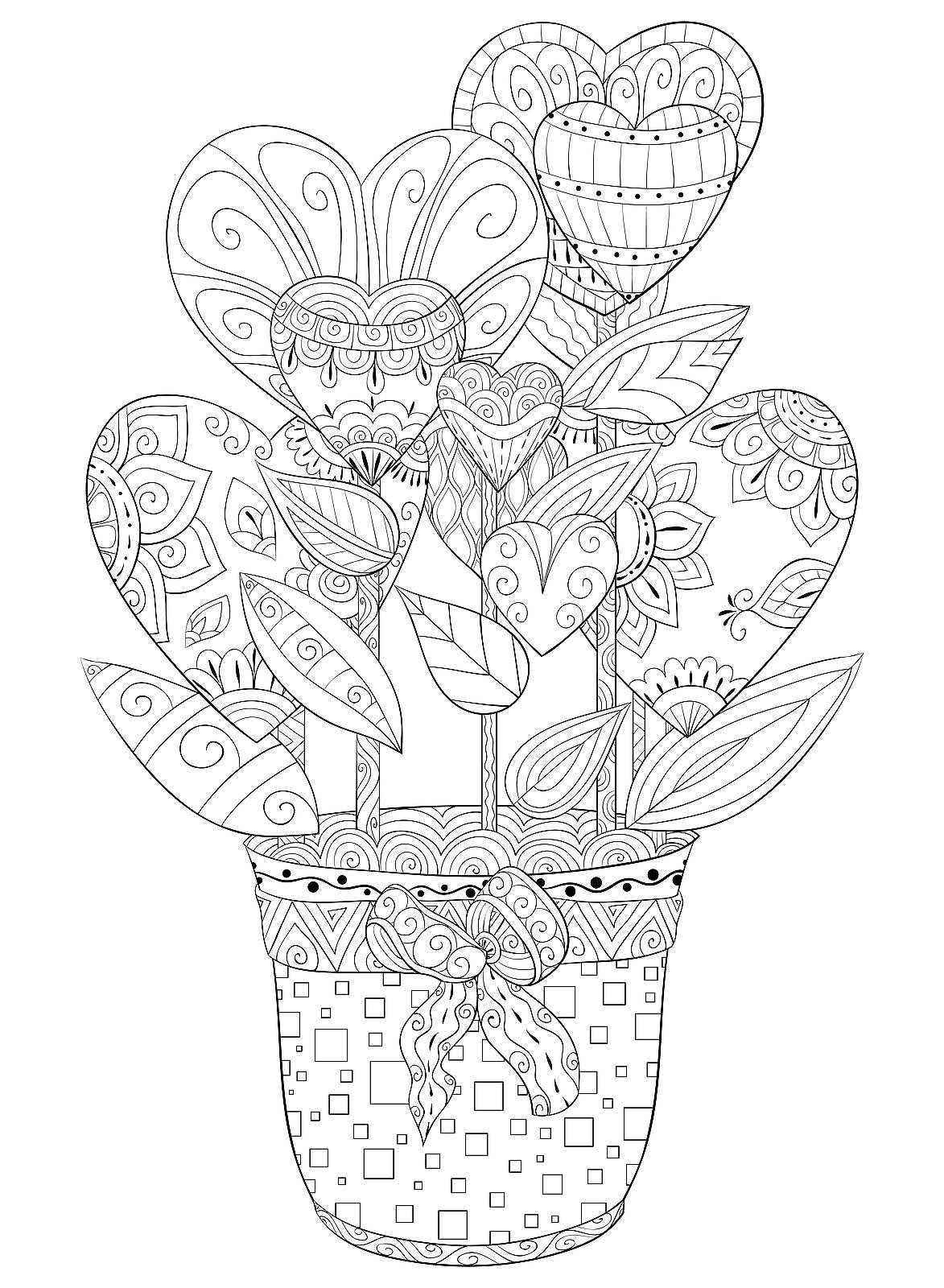 Valentine's Day Coloring Pages: Heart & Love-Themed ...