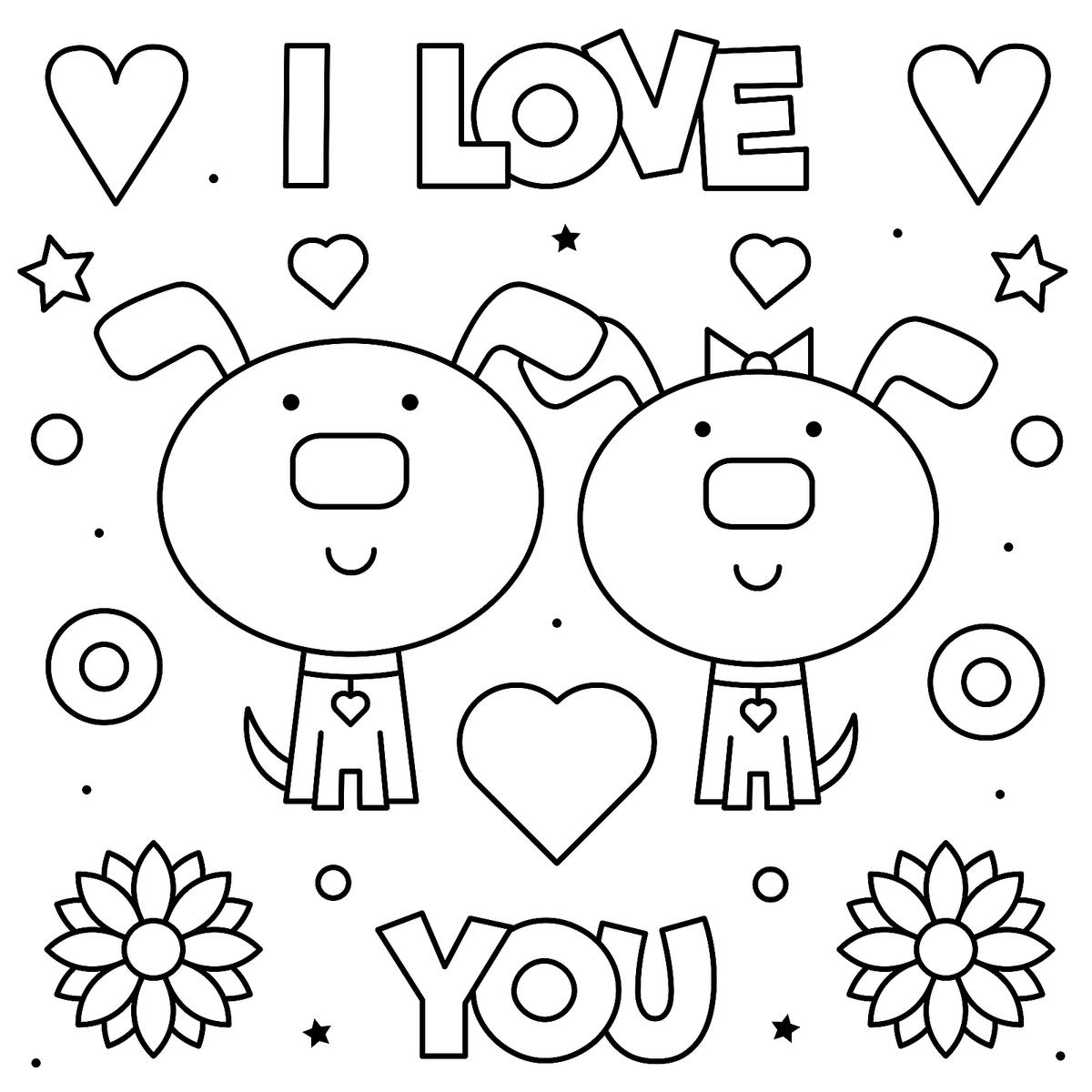 Valentine's Day 2020 Coloring Pages - Coloring Home | 1200x1200
