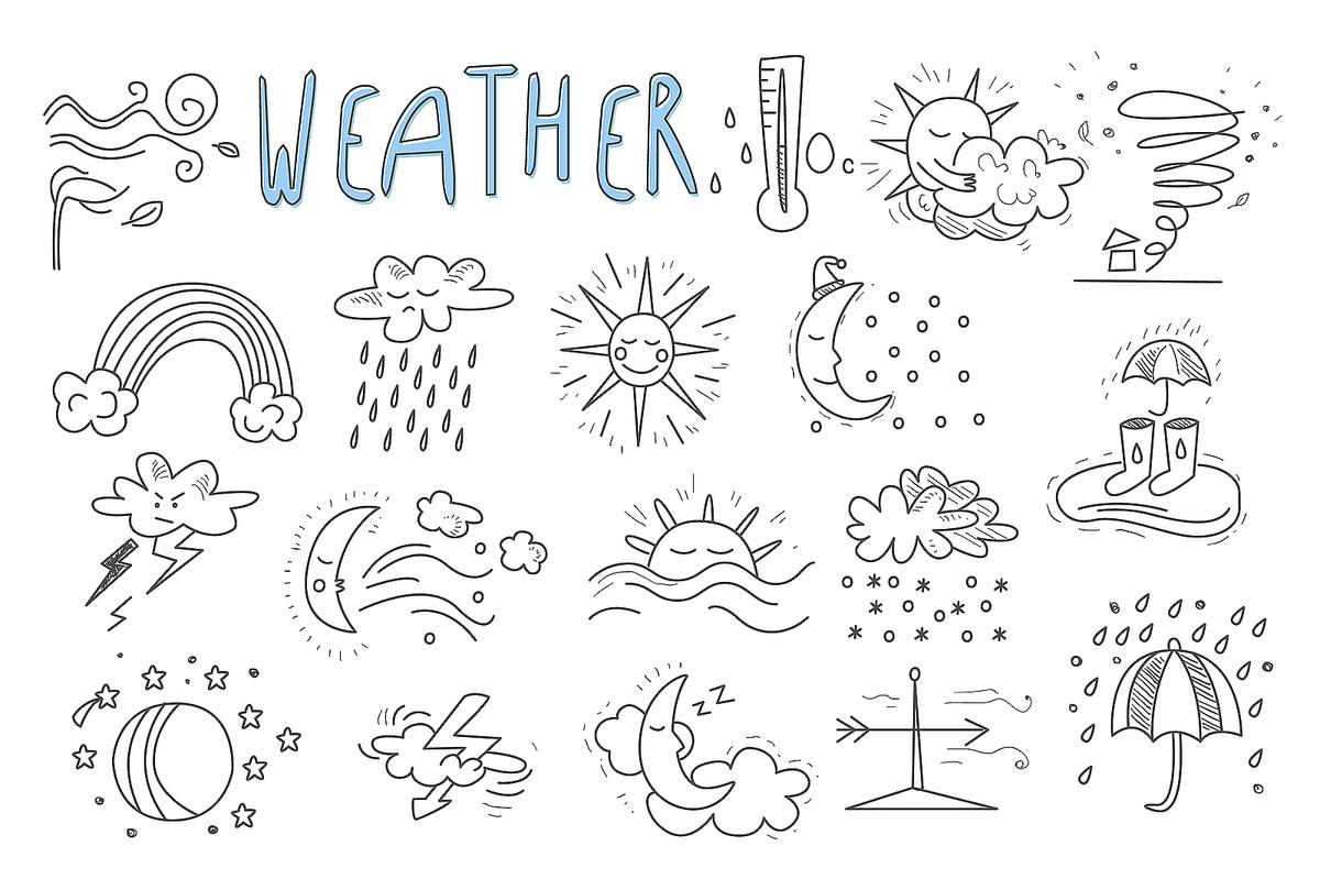 Weather Coloring Pages for Kids: Fun & Free Printable ...