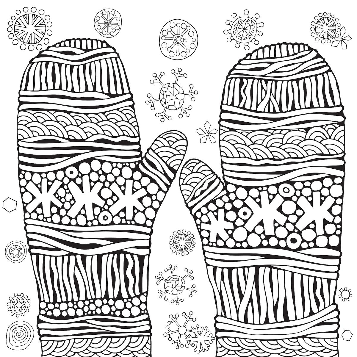 Winter Puzzle & Coloring Pages Printable Winter Themed
