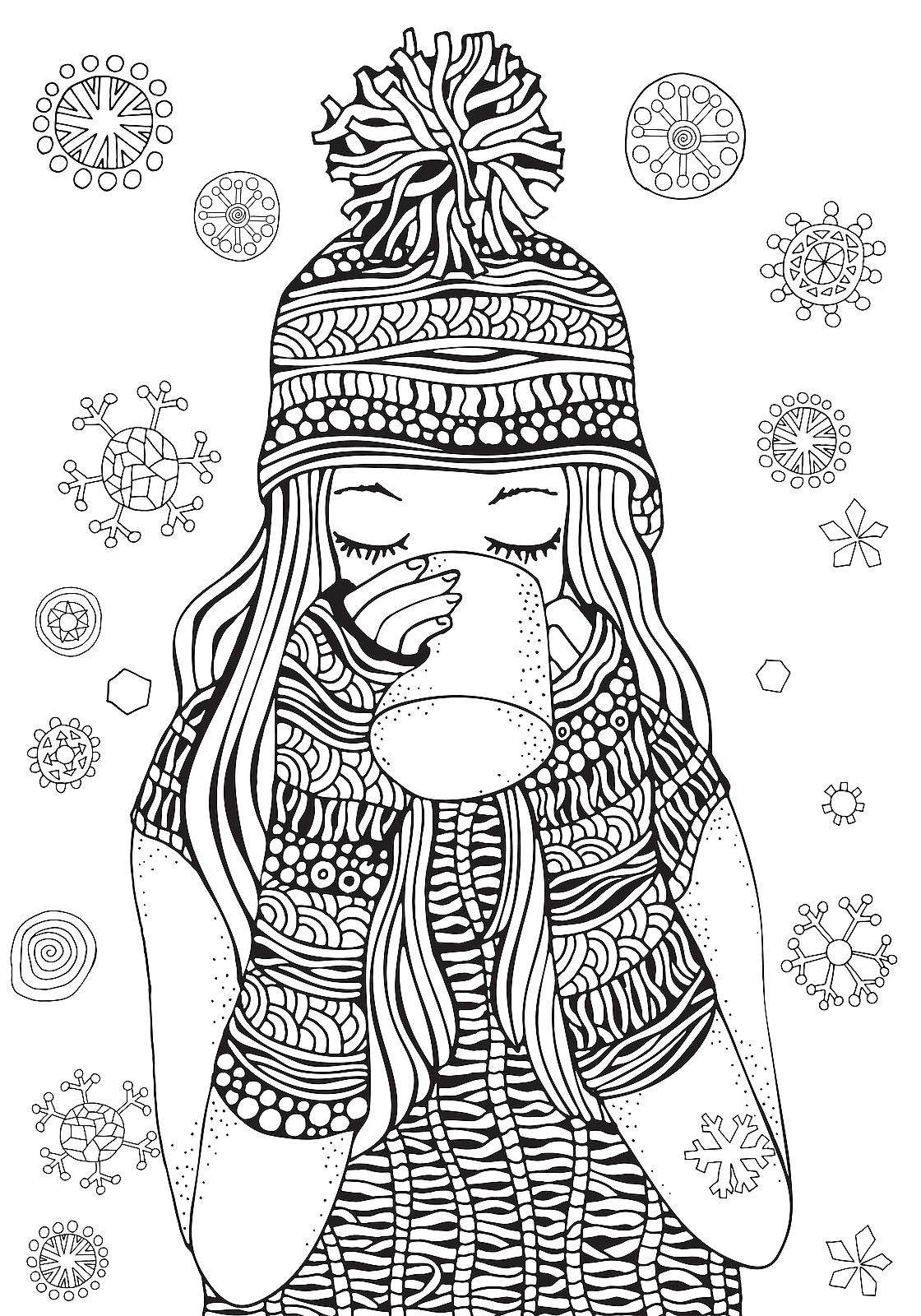 Winter Puzzle & Coloring Pages: Printable Winter-Themed Activity ...